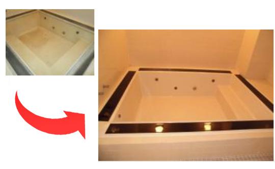大型浴槽のリペア